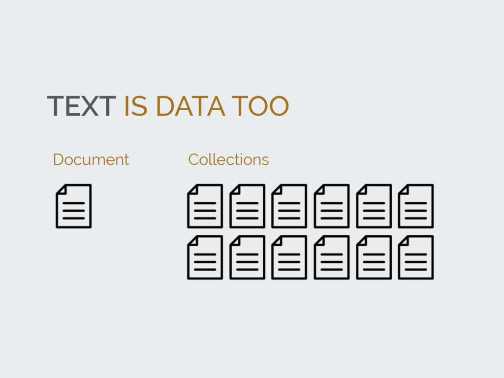 TEXT IS DATA TOO Document Collections