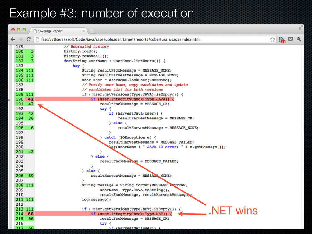 Example #3: number of execution .NET wins