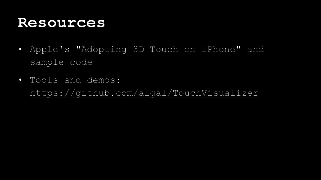 "Resources • Apple's ""Adopting 3D Touch on iPhon..."