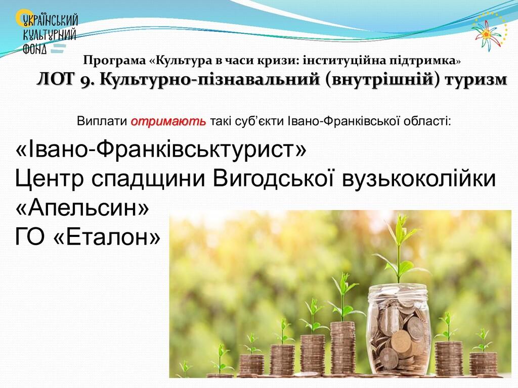 Виплати отримають такі суб'єкти Івано-Франківсь...