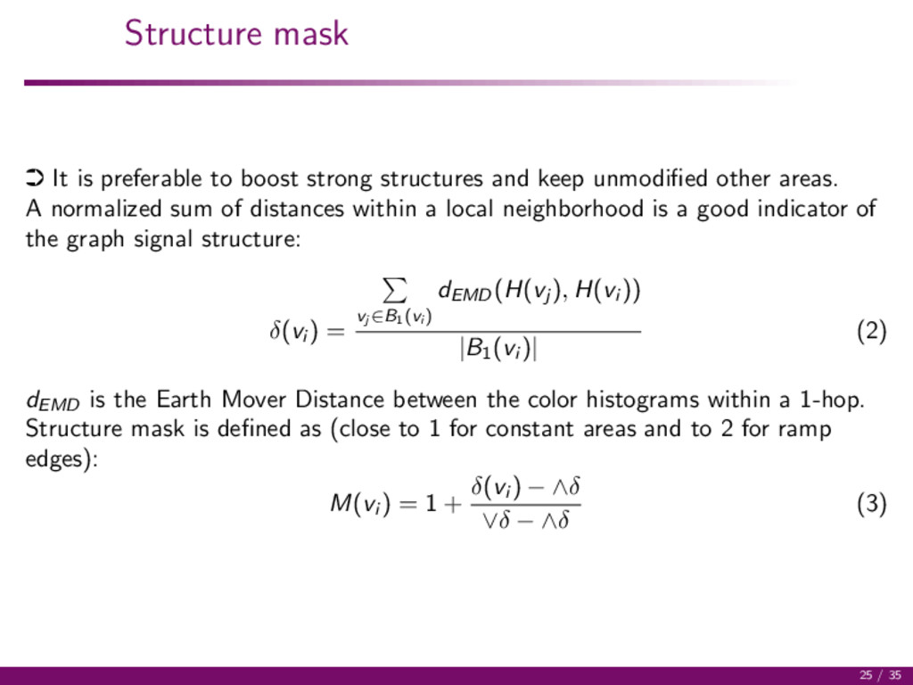 Structure mask · It is preferable to boost stro...