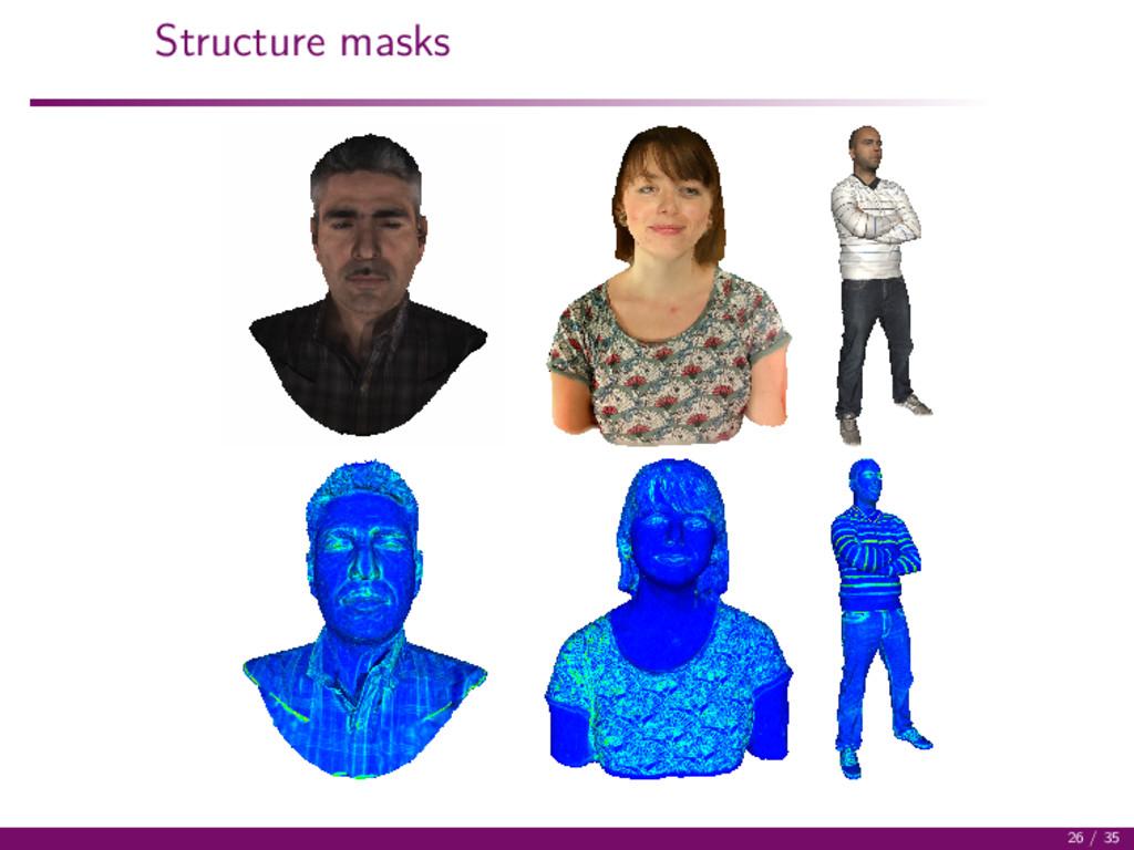Structure masks 26 / 35