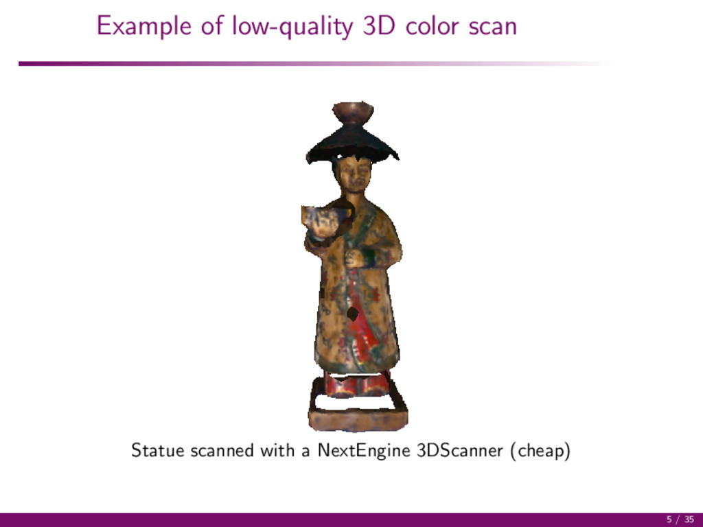 Example of low-quality 3D color scan Statue sca...
