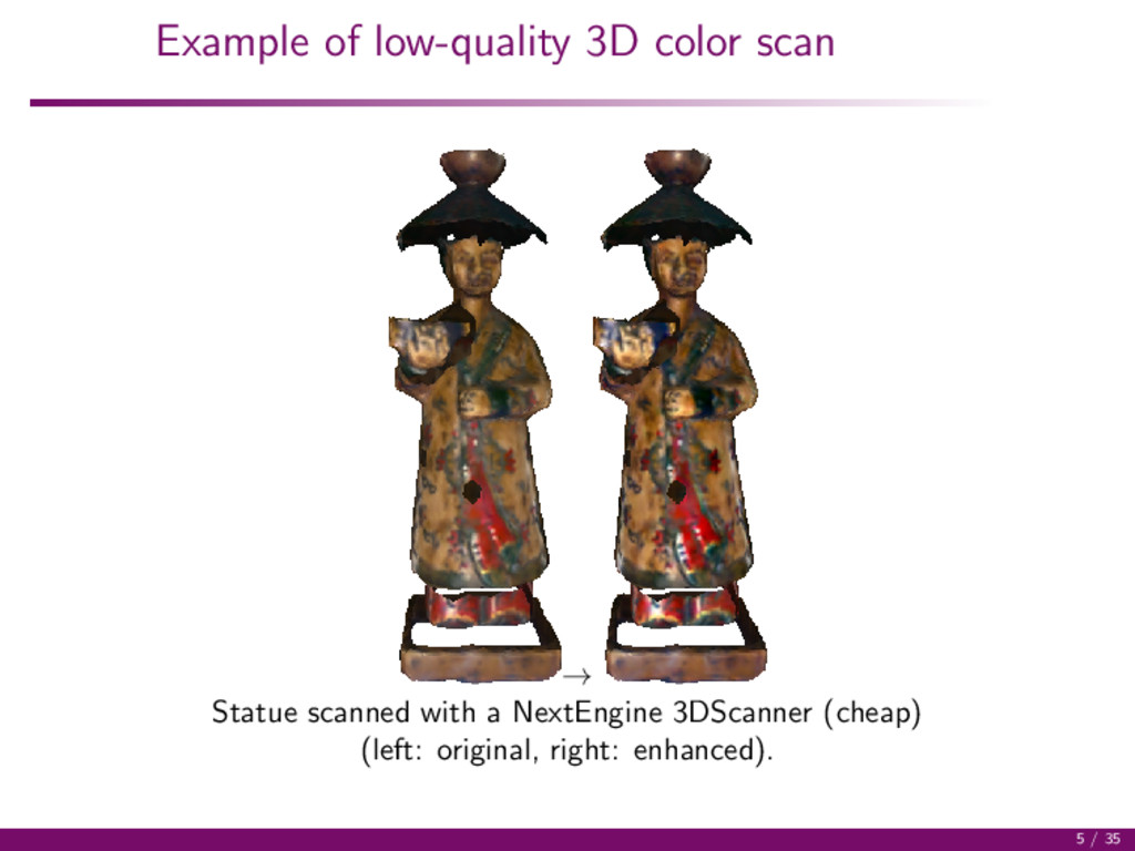 Example of low-quality 3D color scan → Statue s...