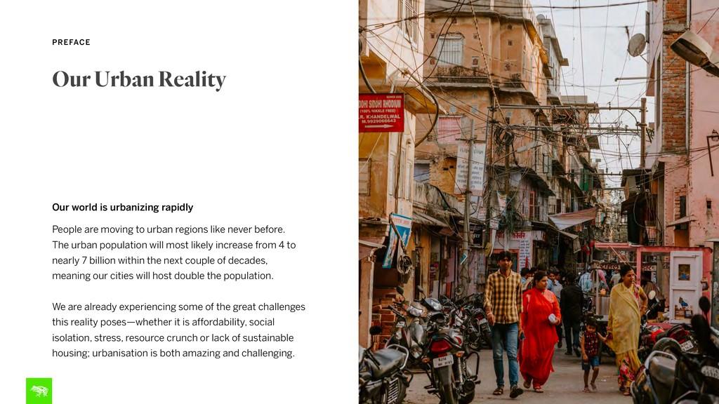 10 PREFACE Our world is urbanizing rapidly Peop...