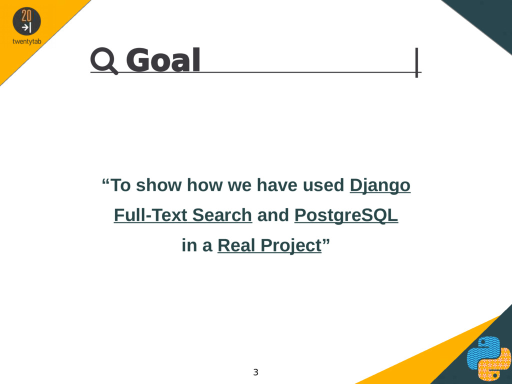 """ Goal 