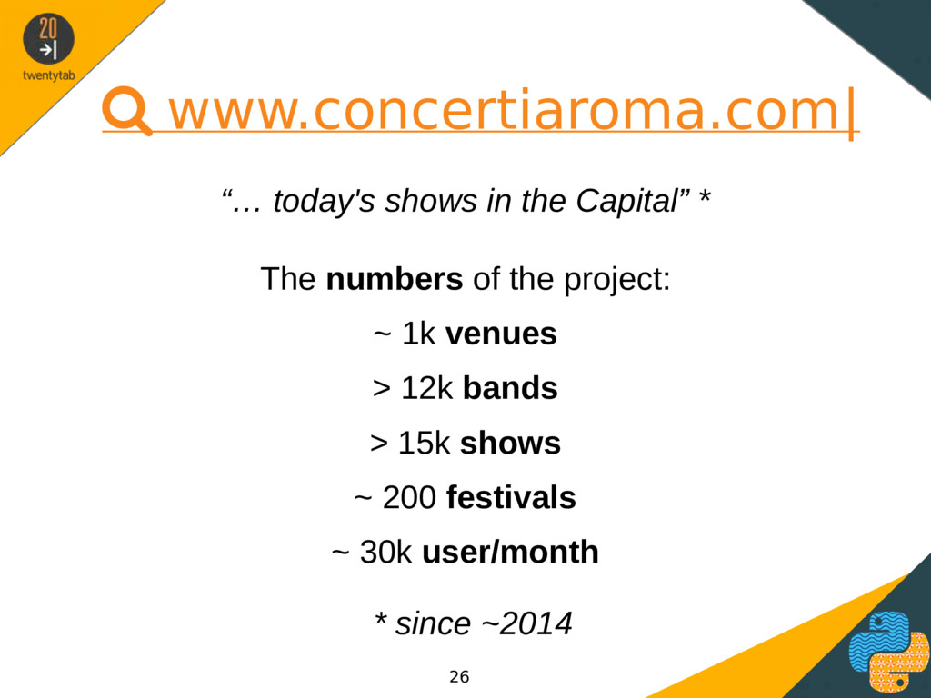 " www.concertiaroma.com| ""… today's shows in th..."