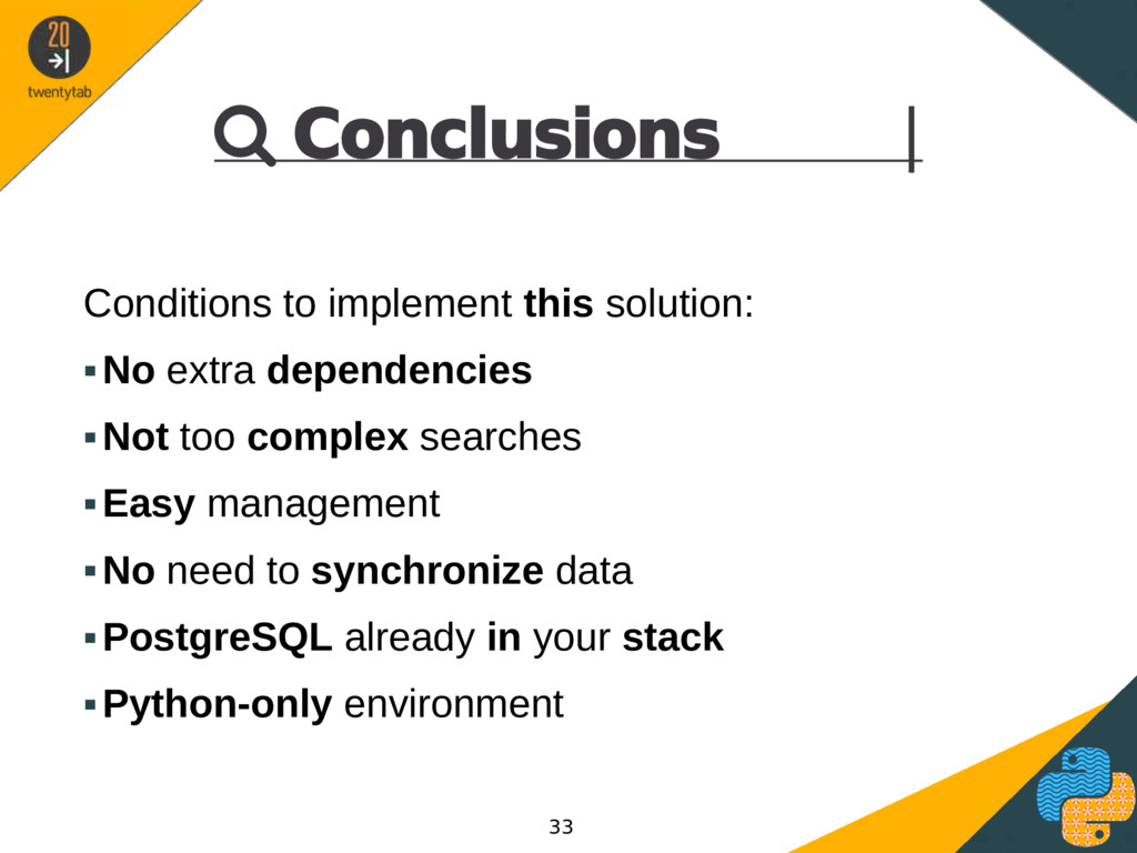  Conclusions | Conditions to implement this so...