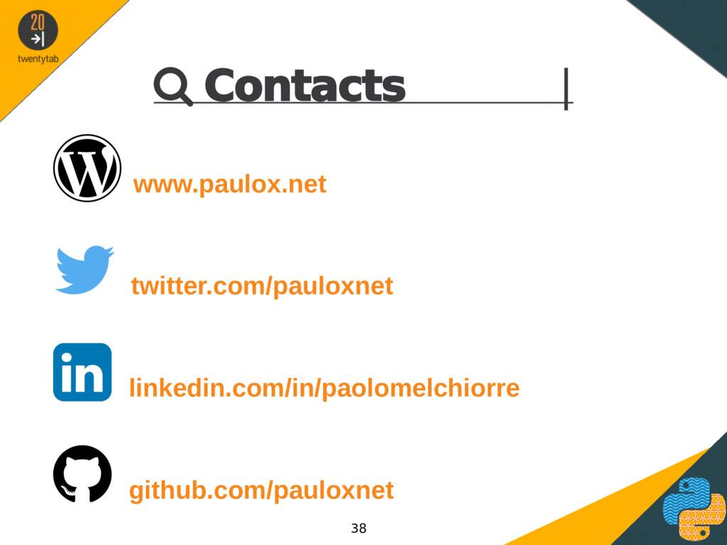  Contacts |  www.paulox.net  twitter.com/pau...