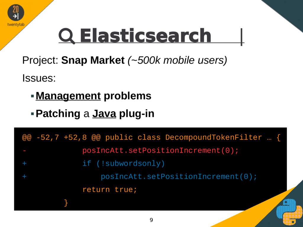  Elasticsearch | Project: Snap Market (~500k m...