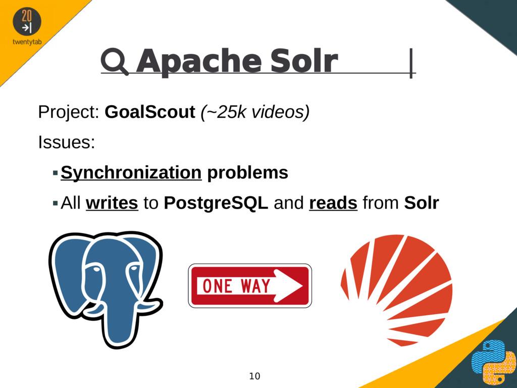  Apache Solr | Project: GoalScout (~25k videos...