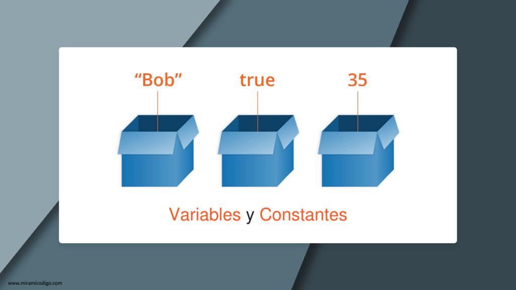 Variables y Constantes