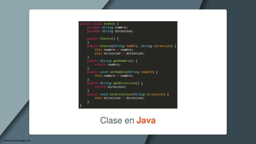 Clase en Java