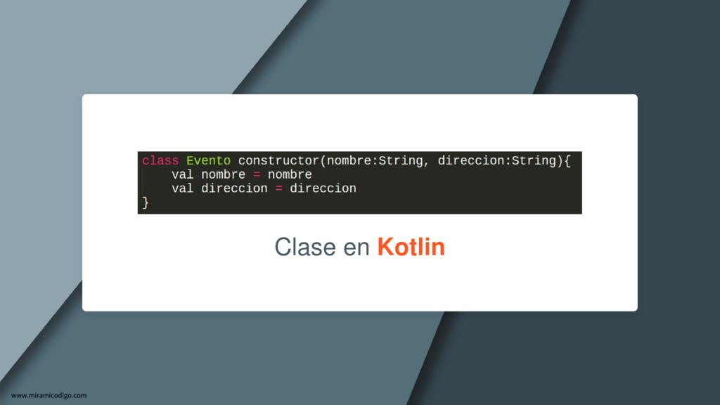 Clase en Kotlin