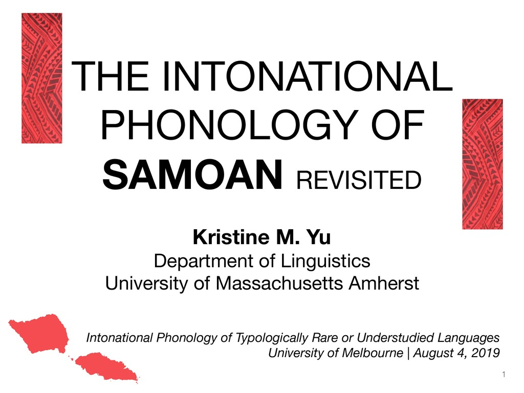THE INTONATIONAL PHONOLOGY OF SAMOAN REVISITED ...