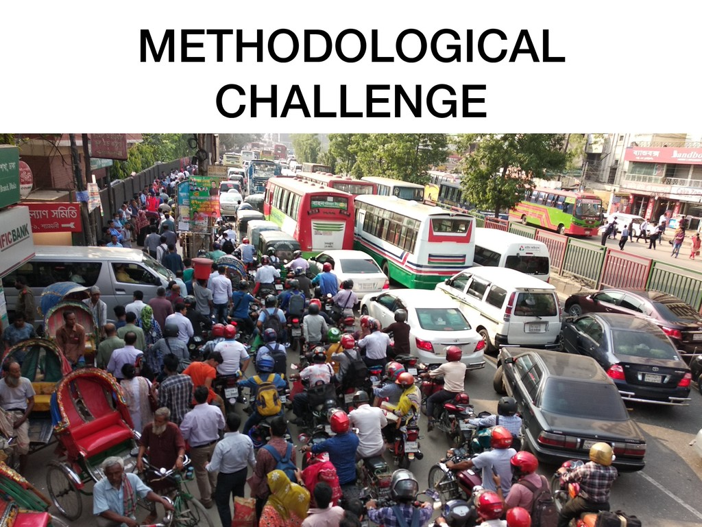 METHODOLOGICAL CHALLENGE !12