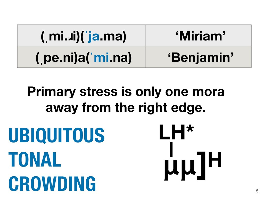 Primary stress is only one mora away from the r...