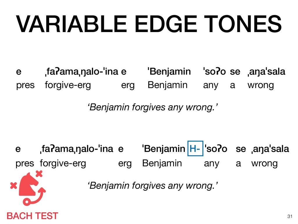 VARIABLE EDGE TONES !31 e ˌfaʔamaˌŋalo-ˈina e ˈ...