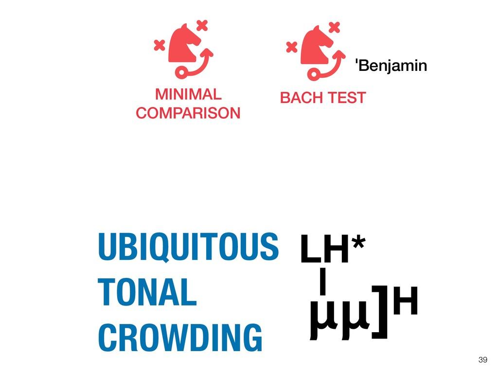 !39 ]H UBIQUITOUS TONAL CROWDING LH* BACH TEST ...