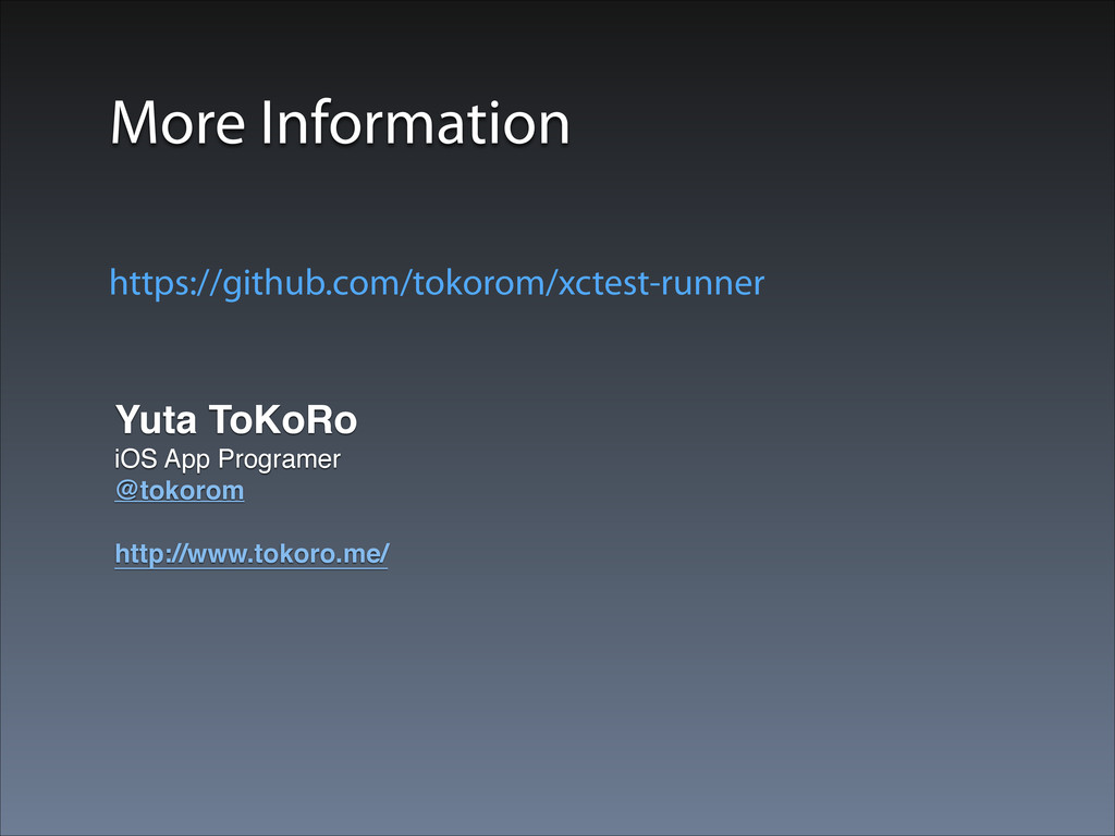 More Information Yuta ToKoRo! iOS App Programer...