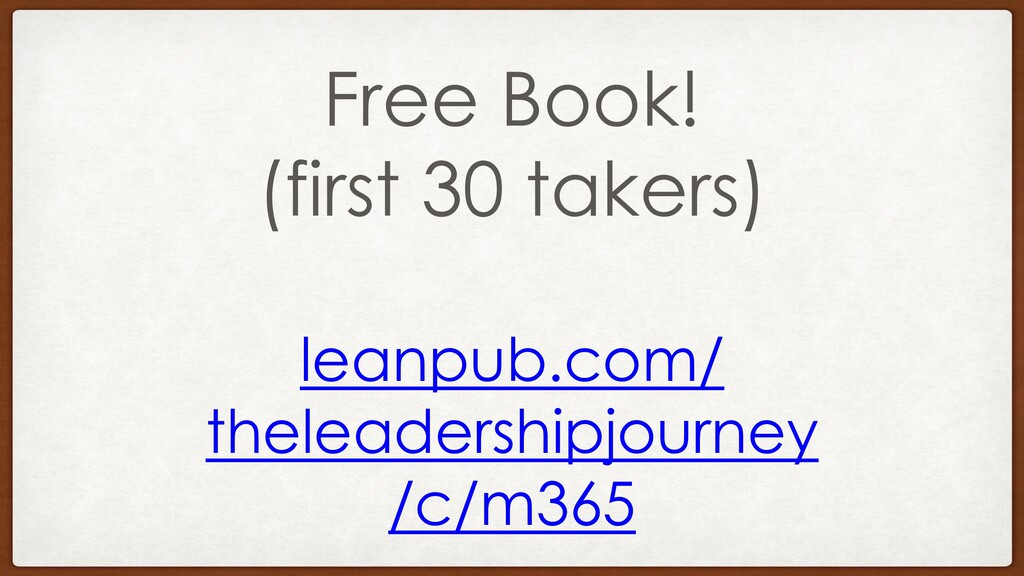 Free Book! (first 30 takers) leanpub.com/ thele...