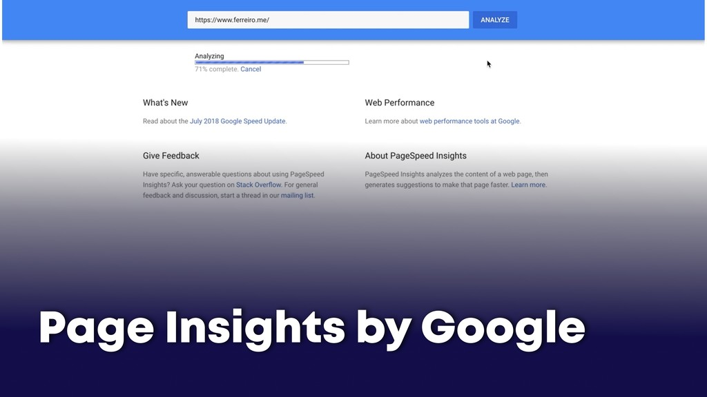 Page Insights by Google