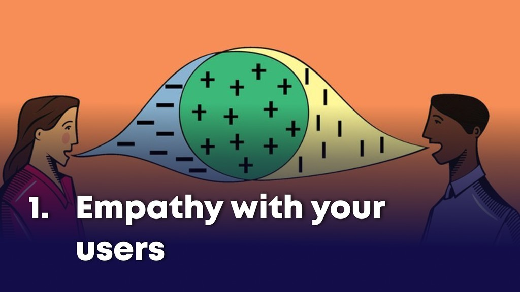 Empathy with your users 1.