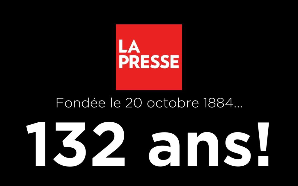 132 ans! Fondée le 20 octobre 1884…
