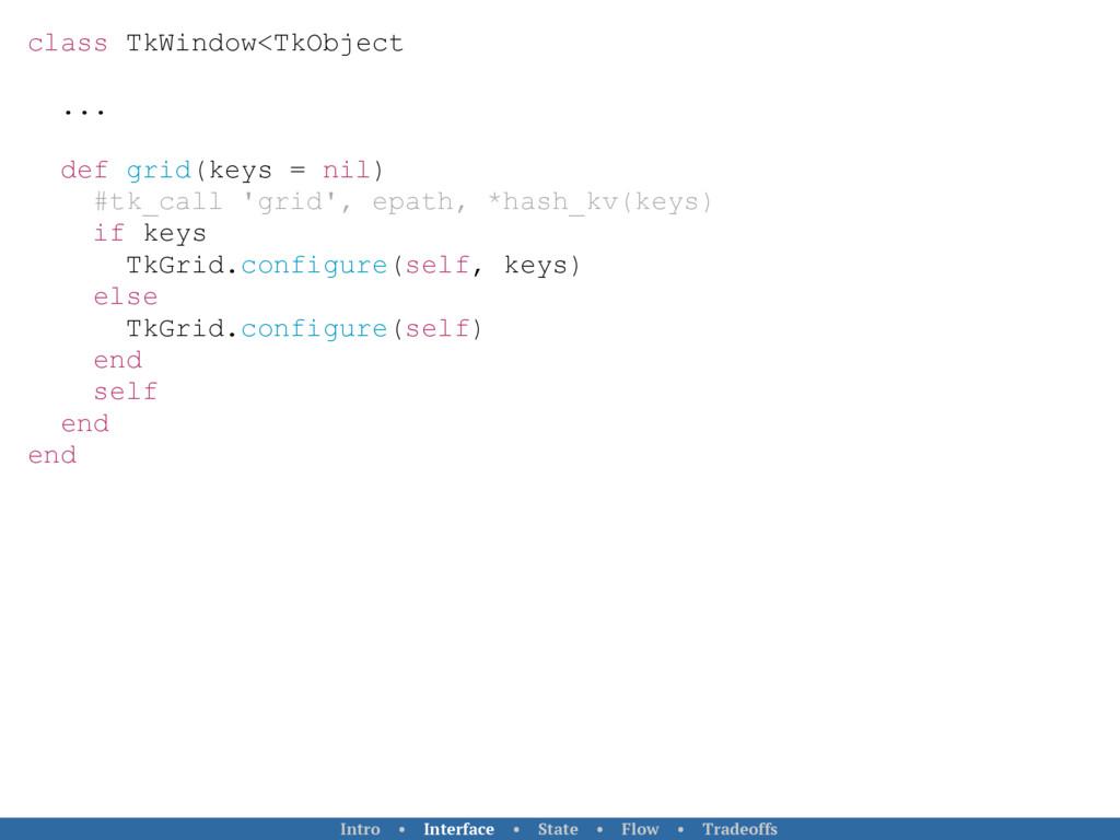 class TkWindow<TkObject ... def grid(keys = nil...