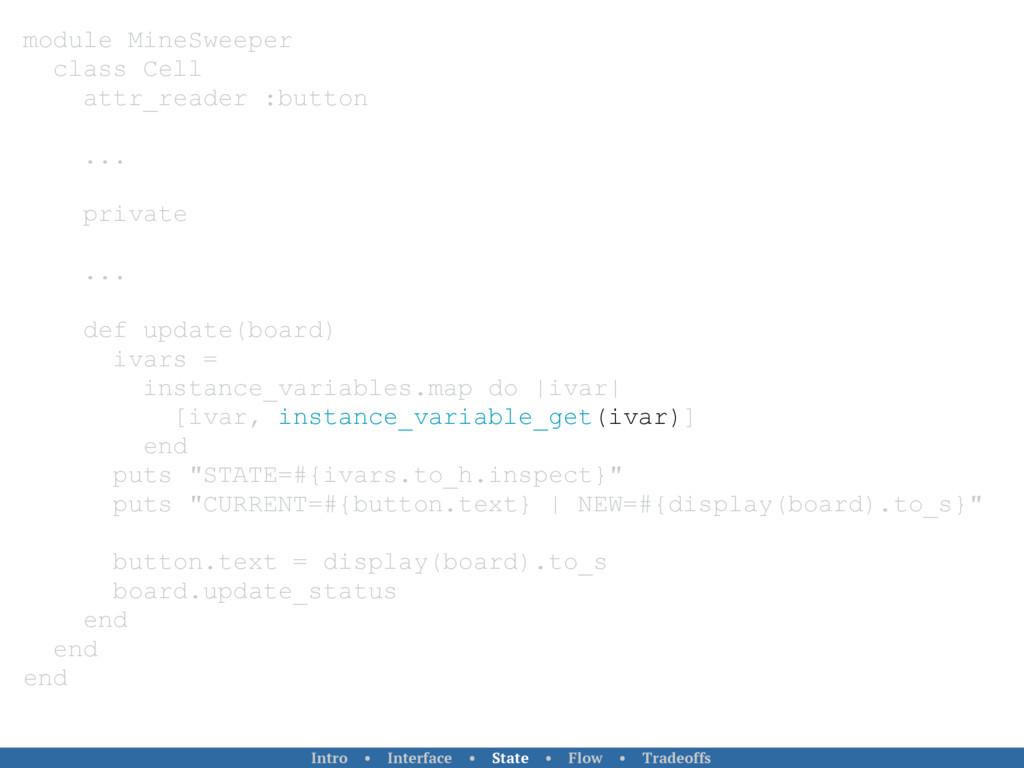 module MineSweeper class Cell attr_reader :butt...