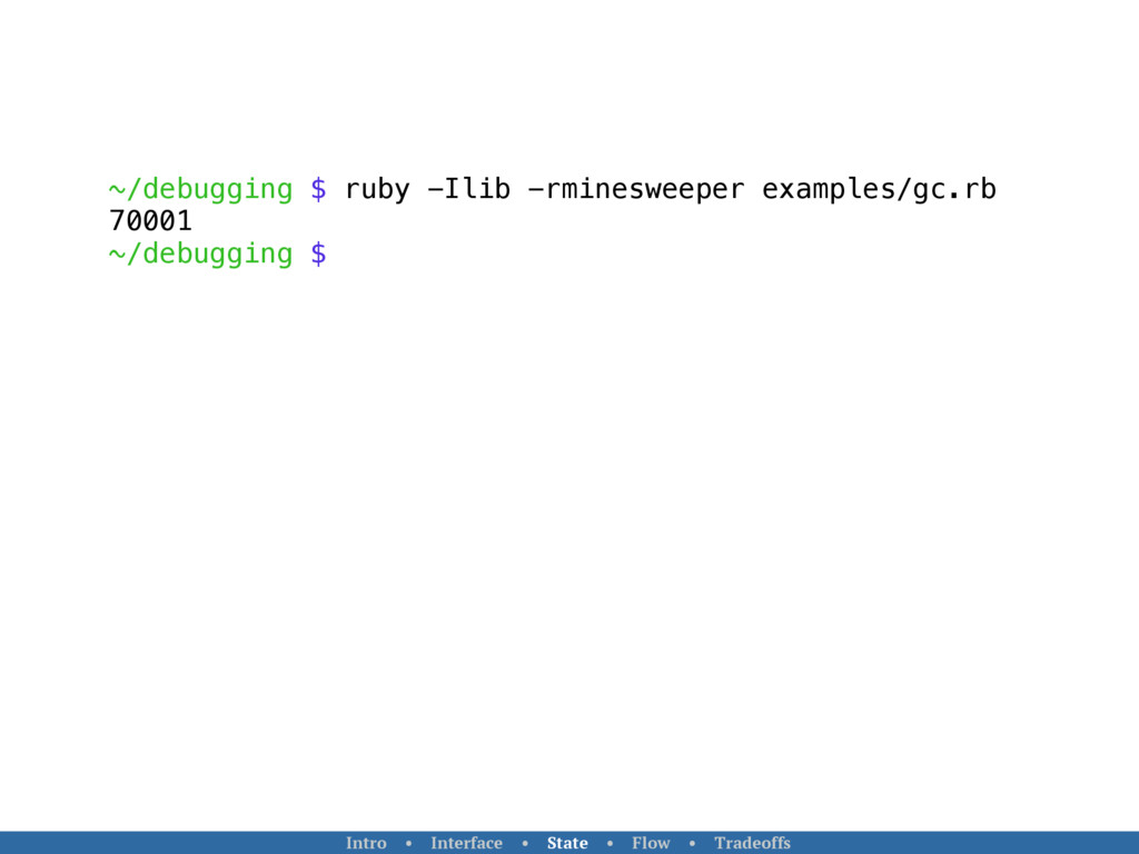 ~/debugging $ ruby -Ilib -rminesweeper examples...