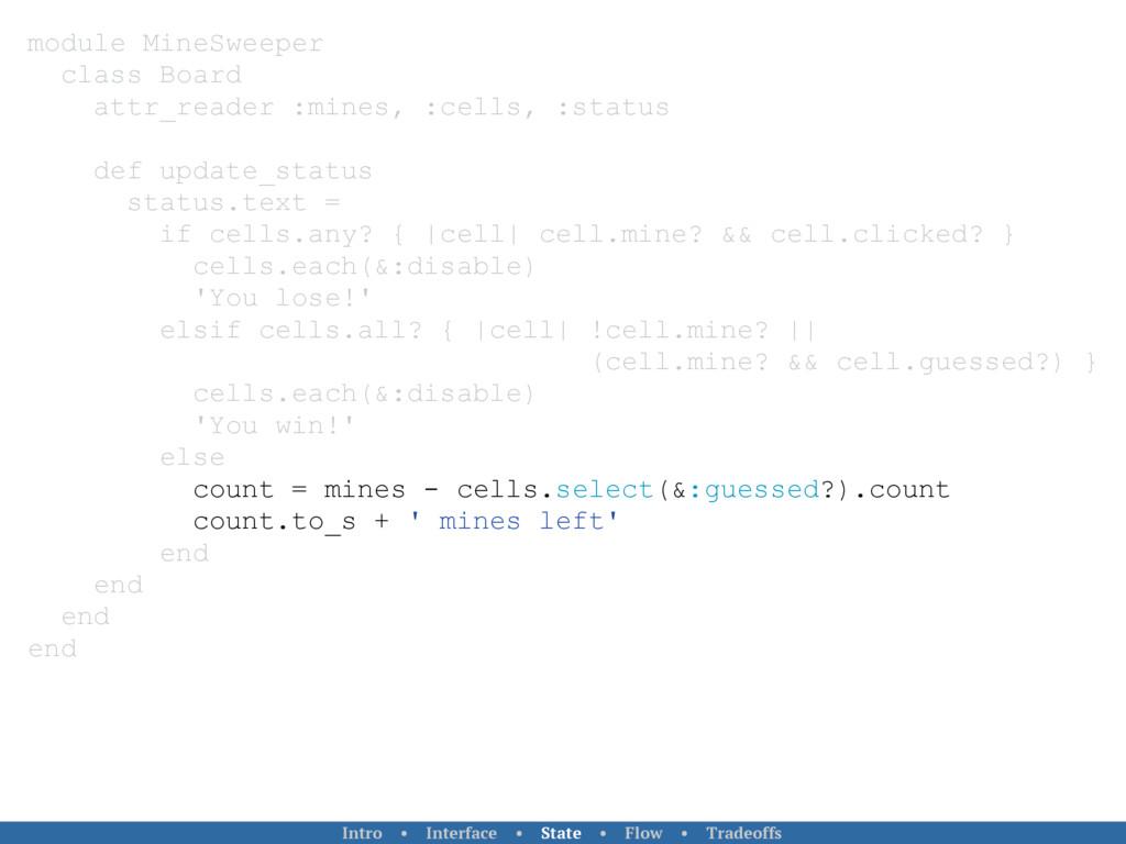 module MineSweeper class Board attr_reader :min...