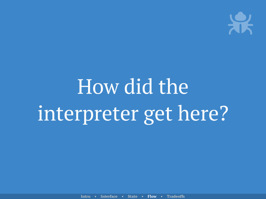 How did the interpreter get here? Intro • Inter...