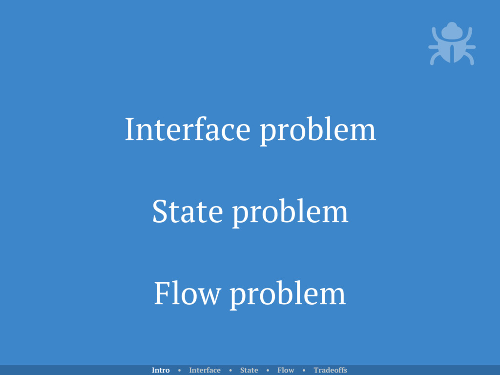 Interface problem State problem Flow problem In...