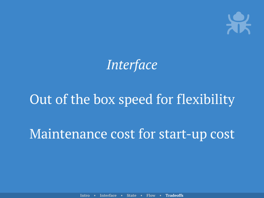 Interface Out of the box speed for flexibility ...