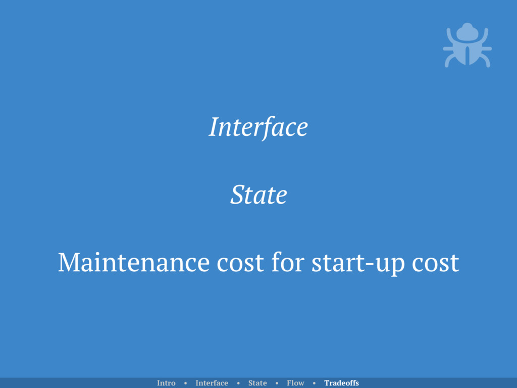 Interface State Maintenance cost for start-up c...