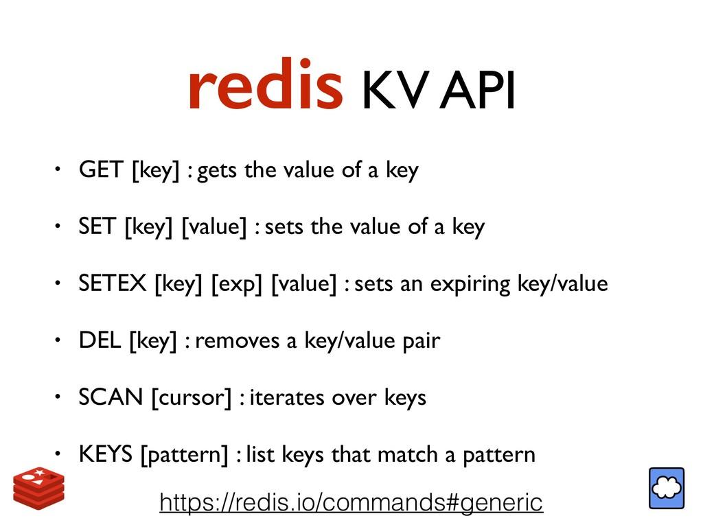 redis KV API • GET [key] : gets the value of a ...