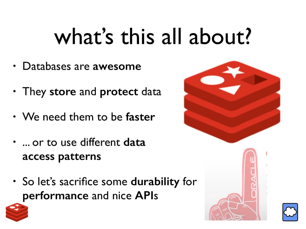 what's this all about? • Databases are awesome ...
