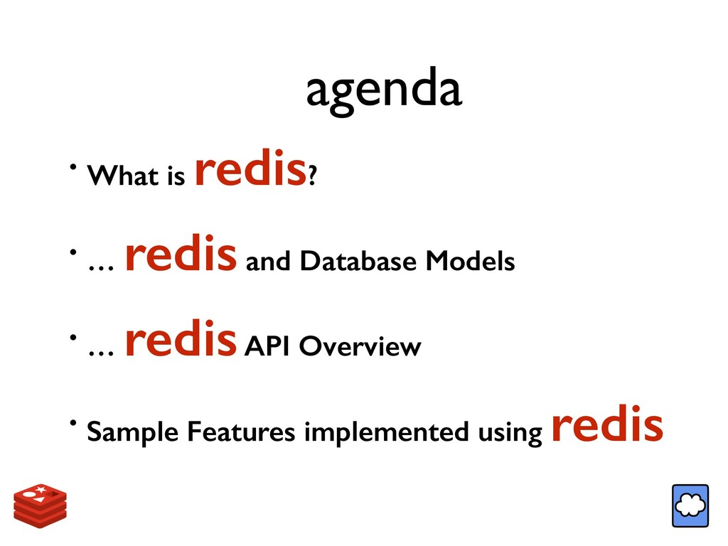 agenda • What is redis? • … redis and Database ...