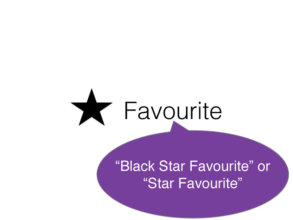 "Favourite ""Black Star Favourite"" or ""Star Favou..."