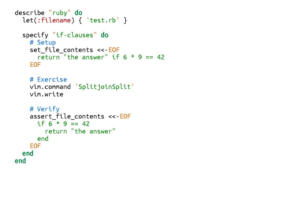 "describe ""ruby"" do let(:filename) { 'test.rb' }..."