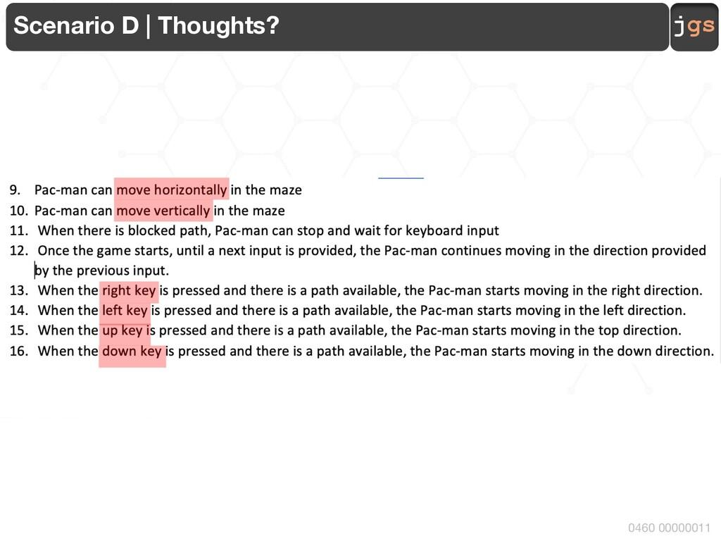 jgs 0460 00000011 Scenario D | Thoughts?