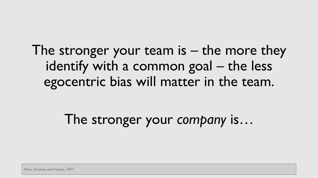 The stronger your team is – the more they ident...