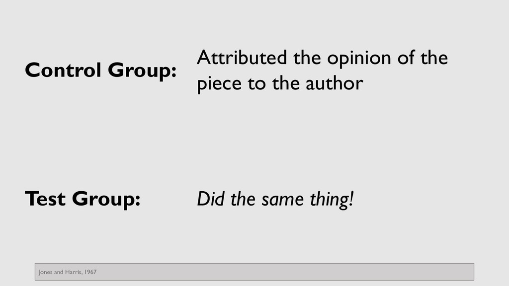 Control Group: Attributed the opinion of the pi...