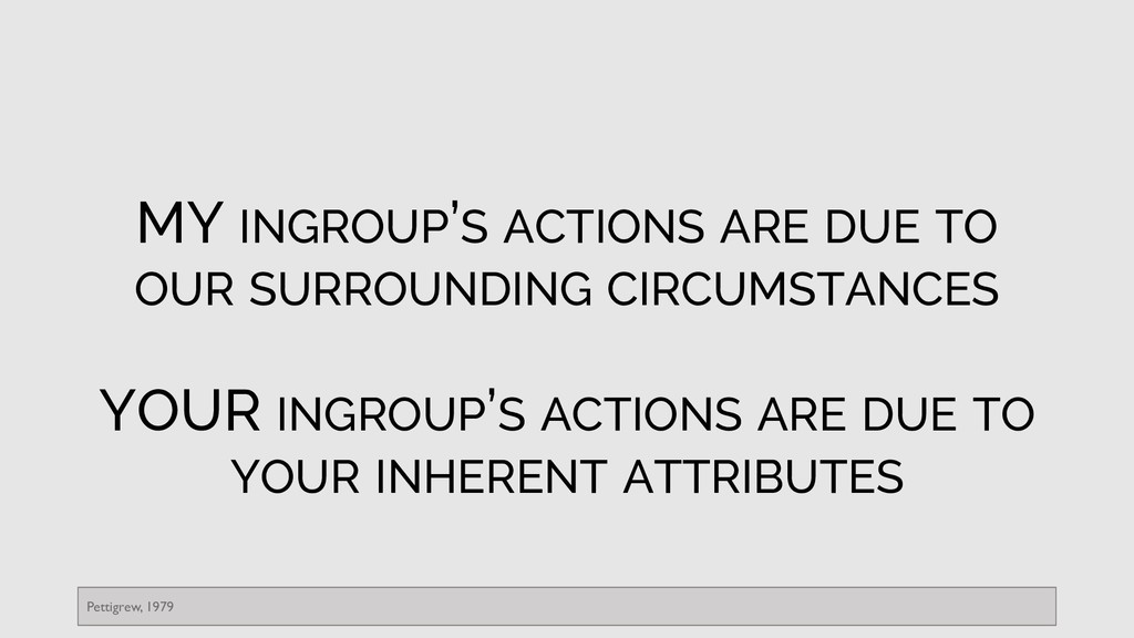 MY INGROUP'S ACTIONS ARE DUE TO OUR SURROUNDING...