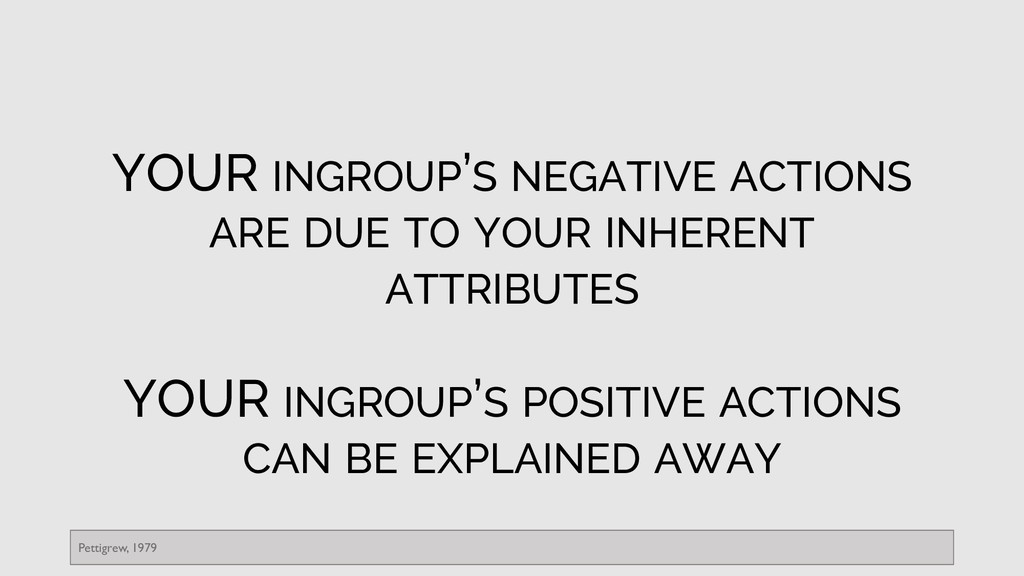 YOUR INGROUP'S NEGATIVE ACTIONS ARE DUE TO YOUR...