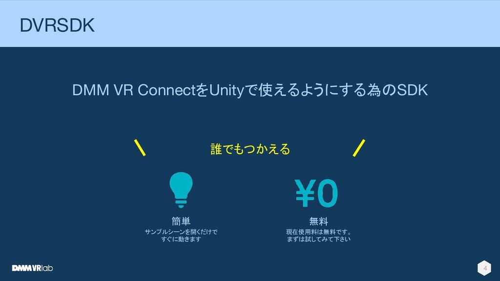 DVRSDKとは DMM VR ConnectをUnityで使えるようにする為のSDK 4 誰...