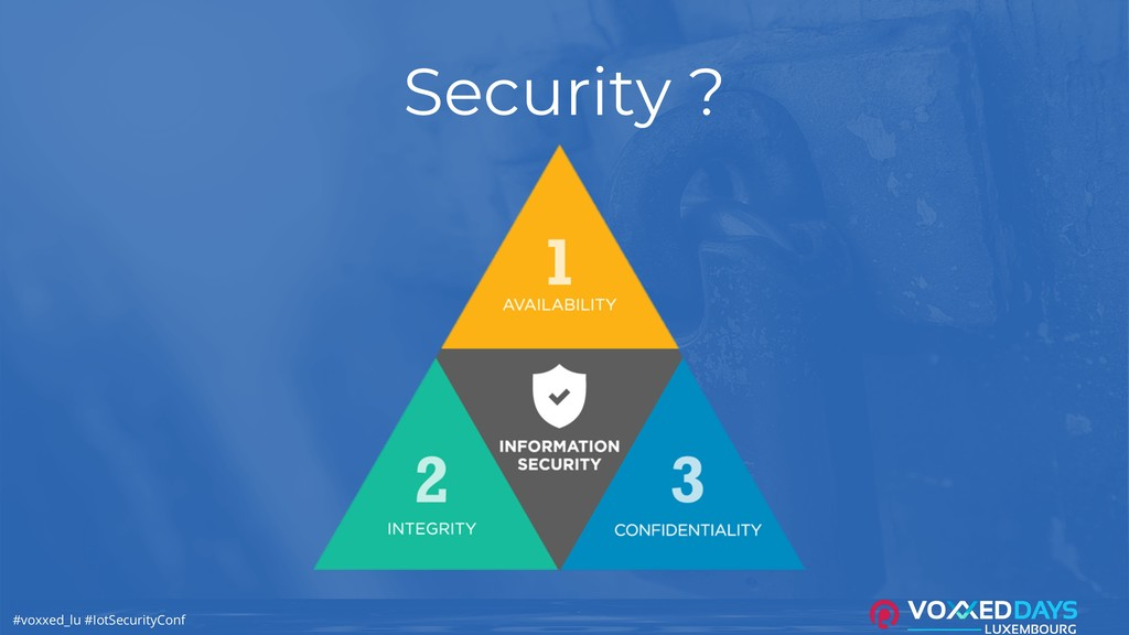 #voxxed_lu #IotSecurityConf Security ?