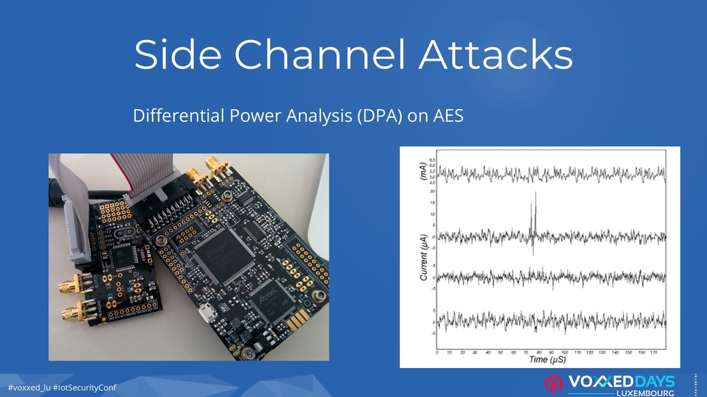 #voxxed_lu #IotSecurityConf Side Channel Attack...