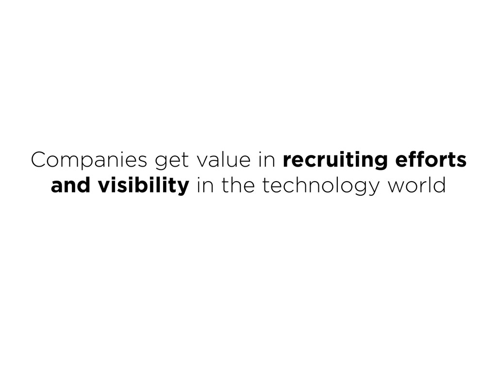 Companies get value in recruiting efforts and v...